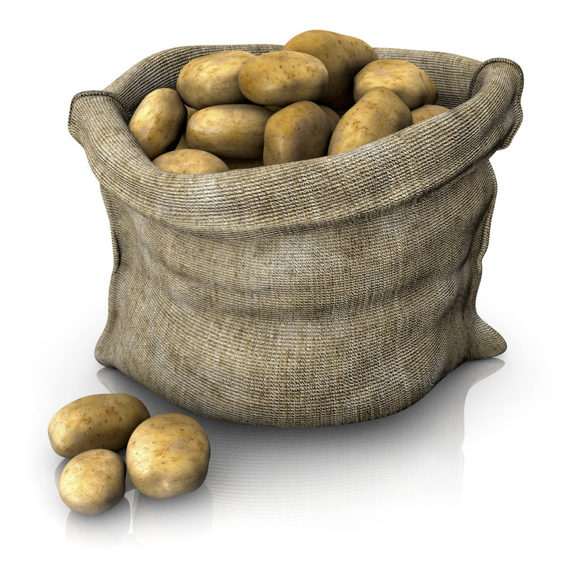 sack potatoes 3d c4d