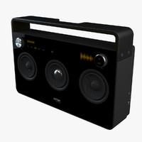tdk boombox speaker 3d model