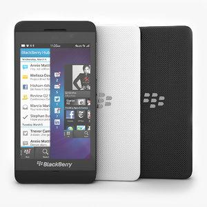 3ds max smartphone blackberry z10 black