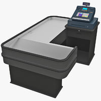 3d cash counter 10 model