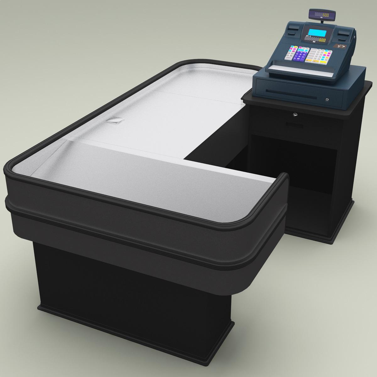 3d cash counter 10 model