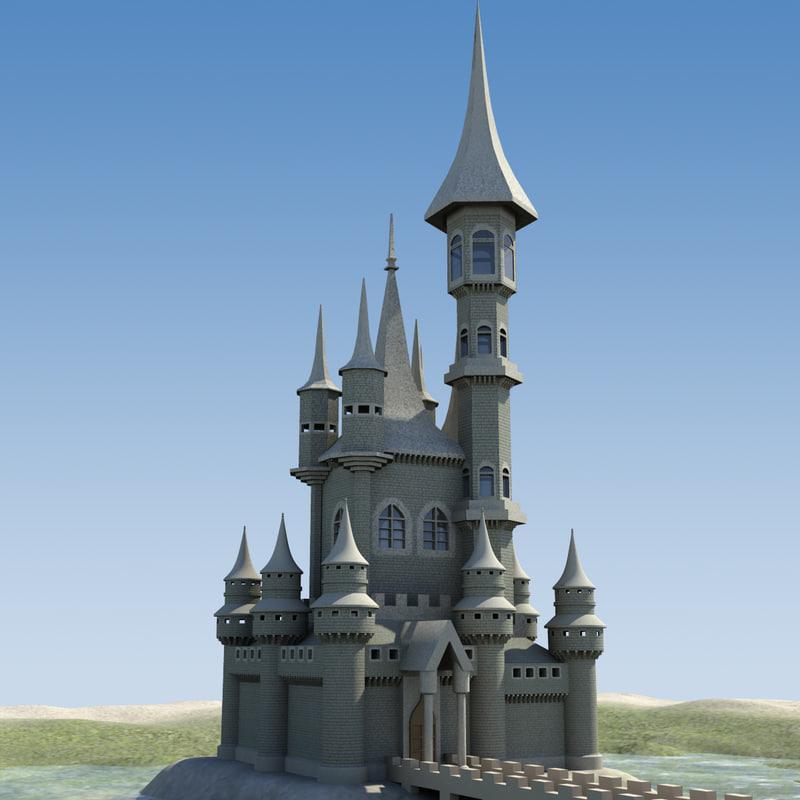 castle water 3d model