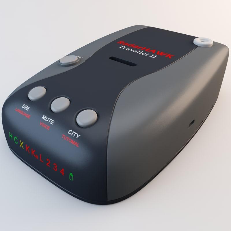 3d radarhawk t2 radar detector model