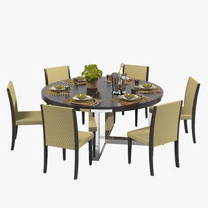 3d misuraemme dining table set model