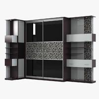 sliding cabinet 3d model