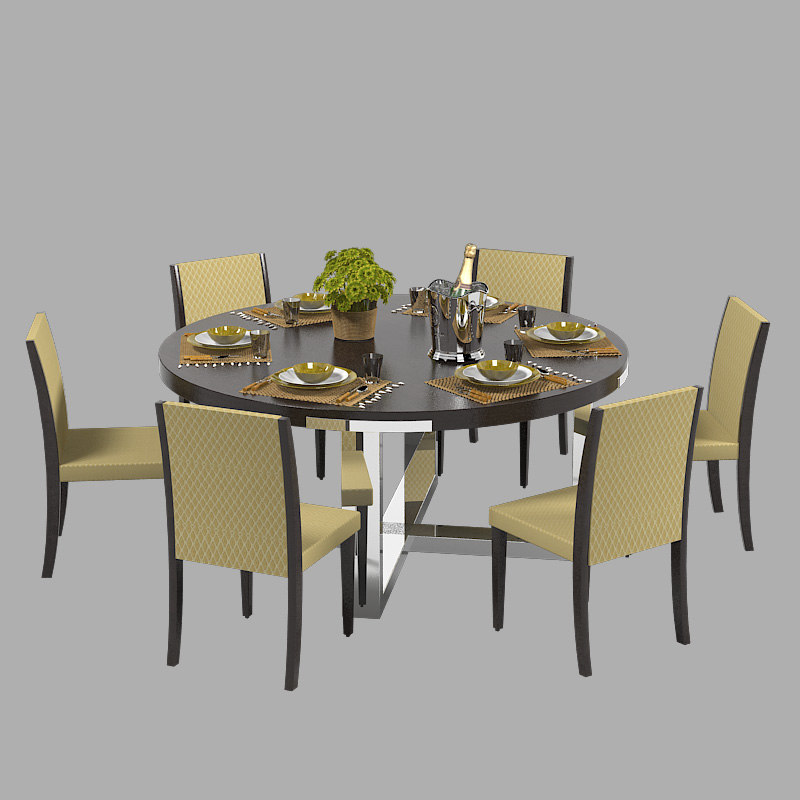 3d misuraemme dining table set model