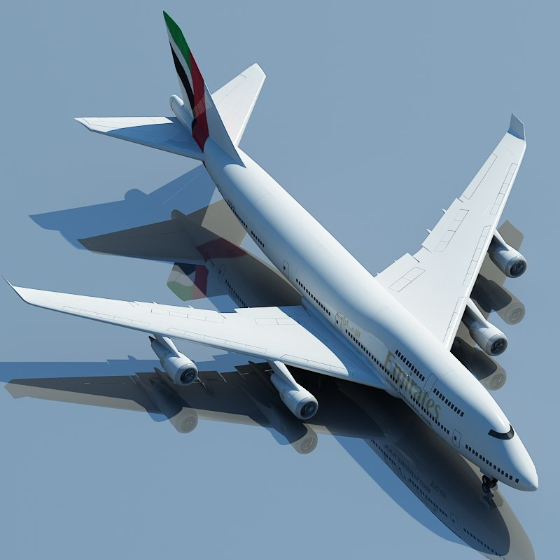 3d boeing 747 emirates model