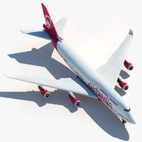 boeing 747 air berlin 3d model