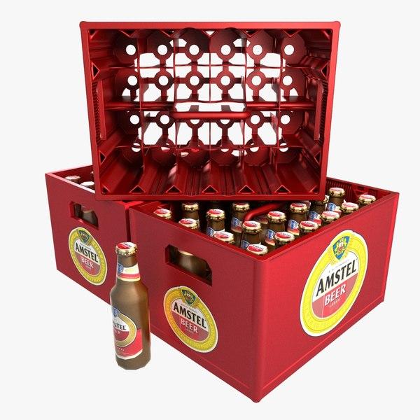 beer bottles crate 3d dxf