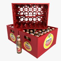 beer bottles crate 3d dxf