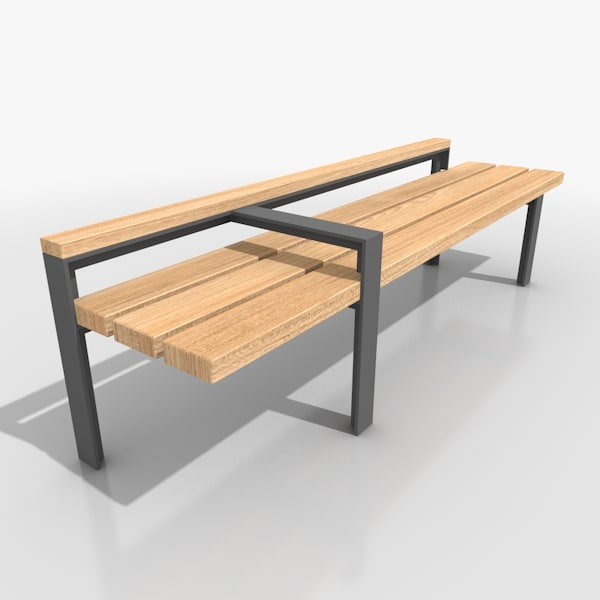 street bench furniture 3d model