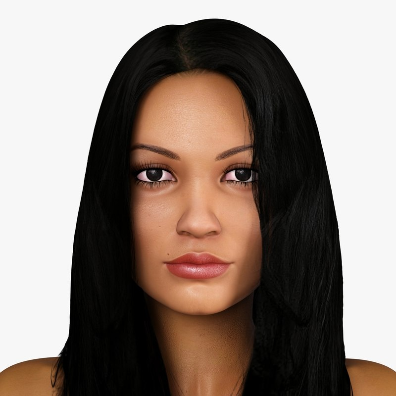 latin-american woman character derika 3d 3ds