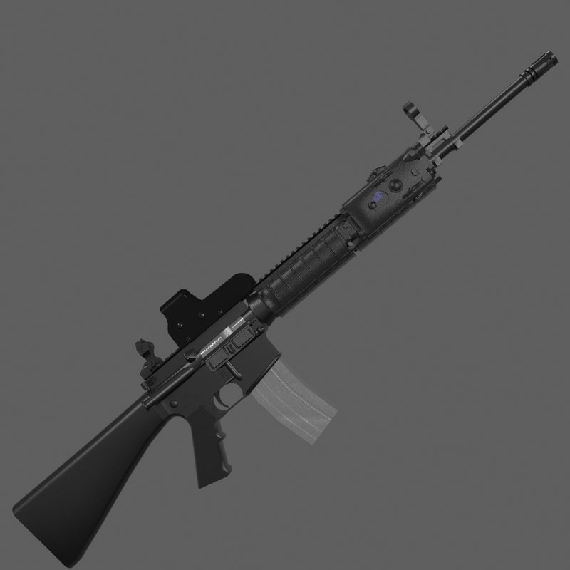 3d m16a4 sights fold model