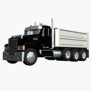 3d mack chu dump truck