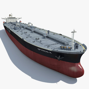 3d crude carrier ship model