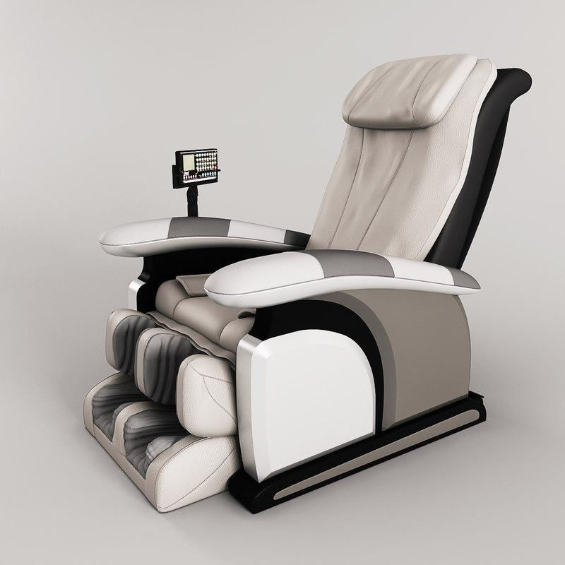 massage chair 3d max