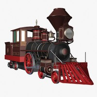 locomotive huntington 3d max