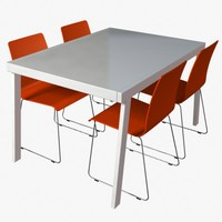3dsmax contemporary dining set