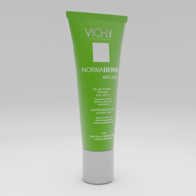3d vichy normaderm cream model