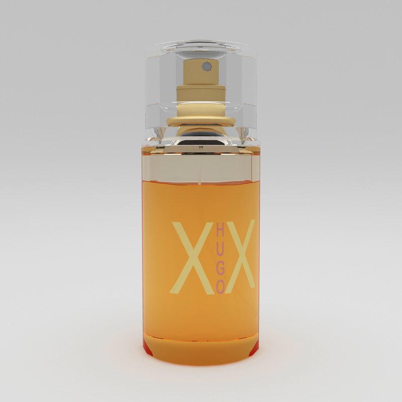 hugo xx perfume 3d model