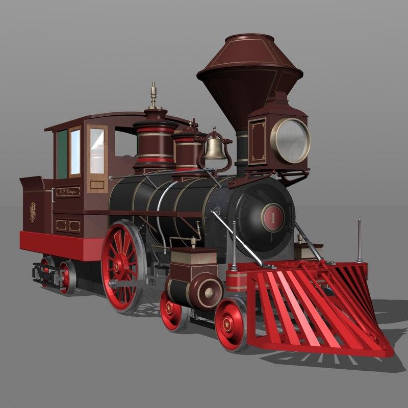 locomotive huntington 3d max