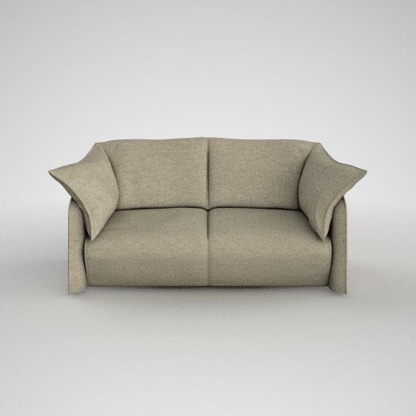 cassina sofa 380 la 3d model