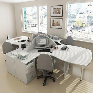 3d office design furniture