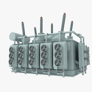 3ds max electrical sub station