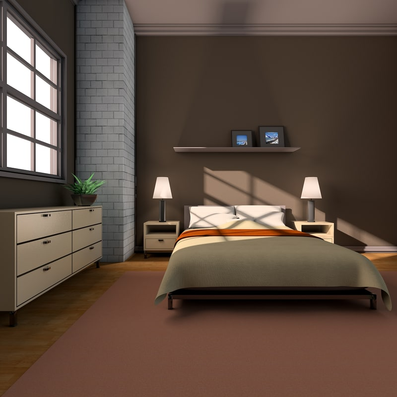 cinema4d bedroom interior
