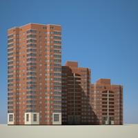 3d building brick model