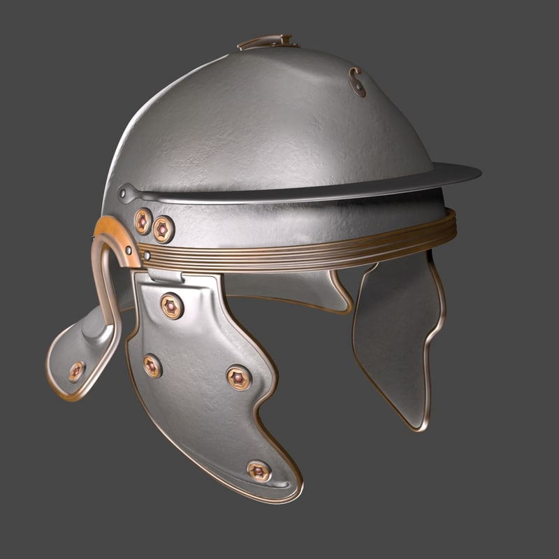 gallic helmet 3d model