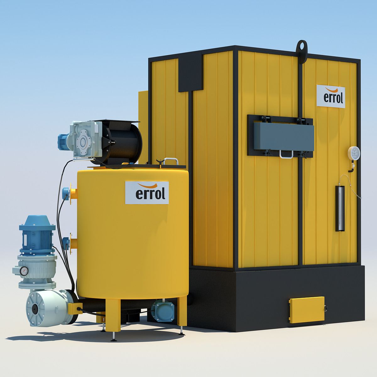 industrial water heating 3 3d model