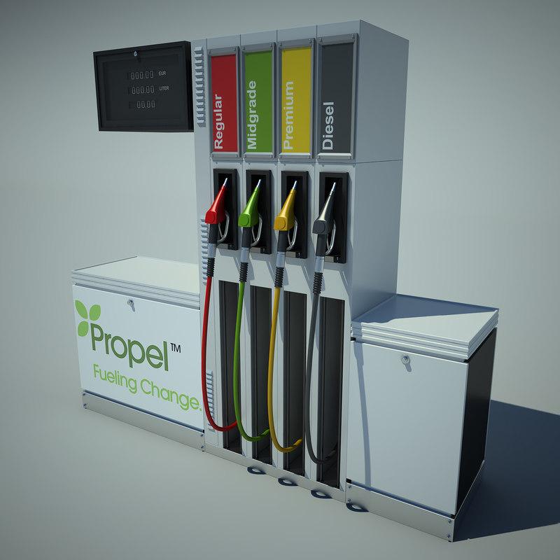 3d petrol pump model