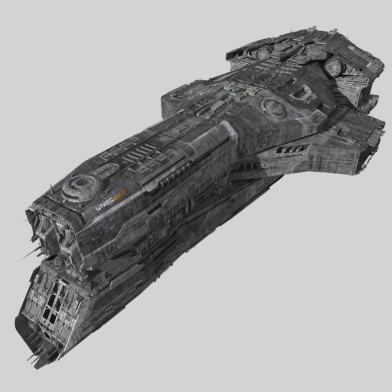 3d model of scifi cruiser