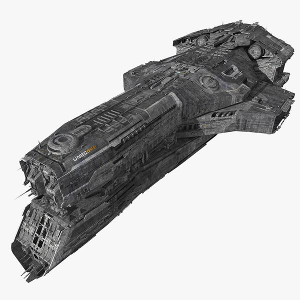3d model of scifi cruiser