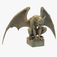Stone Gargoyle Statue