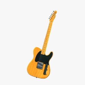 3d model bruce fender esquire electric guitar