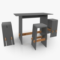Straight-lined Bar Furniture Set
