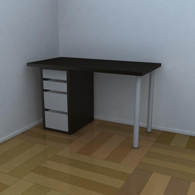 3d table organized model