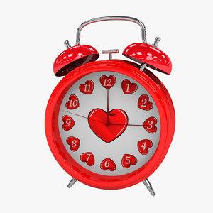 alarm-clock valentine s 3d model