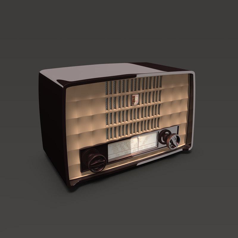 antique philips bakelite radio 3ds