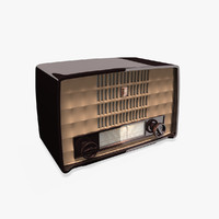 antique philips bakelite radio 3ds