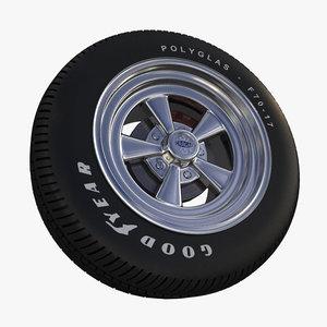 tires rim 3d 3ds