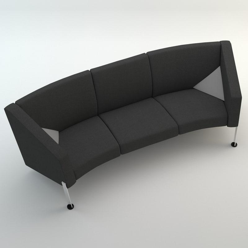 3d decision sofa arms model