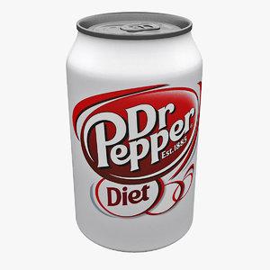 3d diet dr pepper