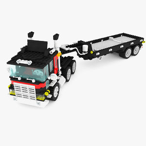 truck trailer lego set max