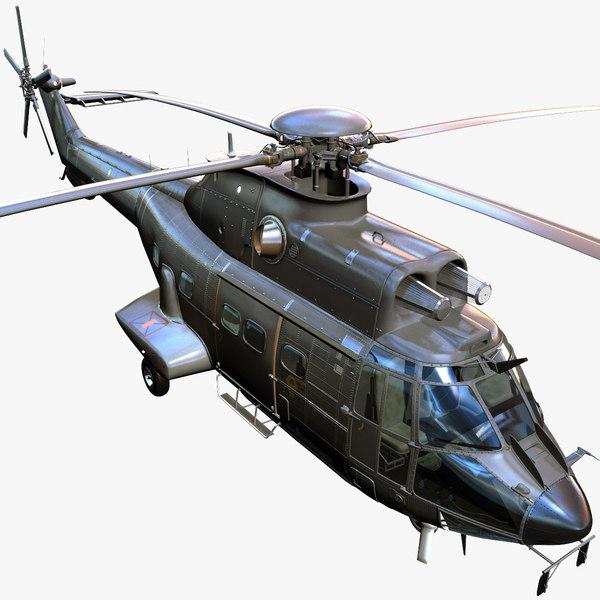 3d model eurocopter as332 super puma