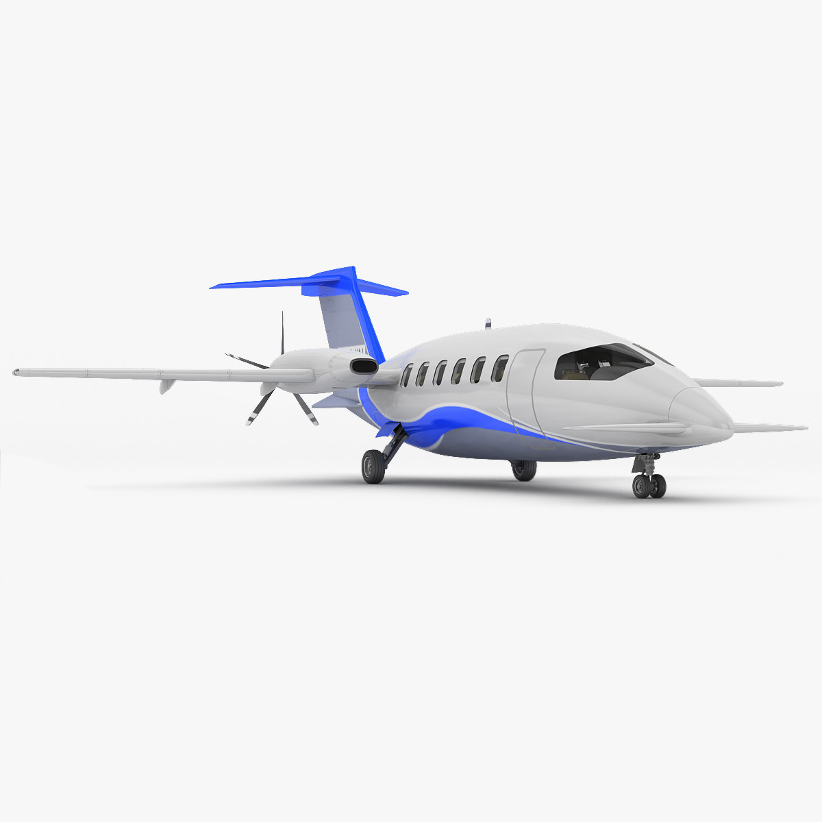3d model piaggio p180 avanti aircraft