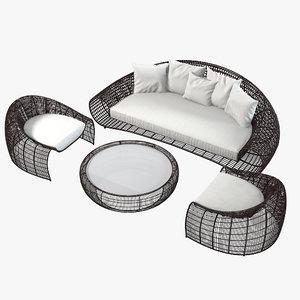 3d kenneth cobonpue outdoor furniture model
