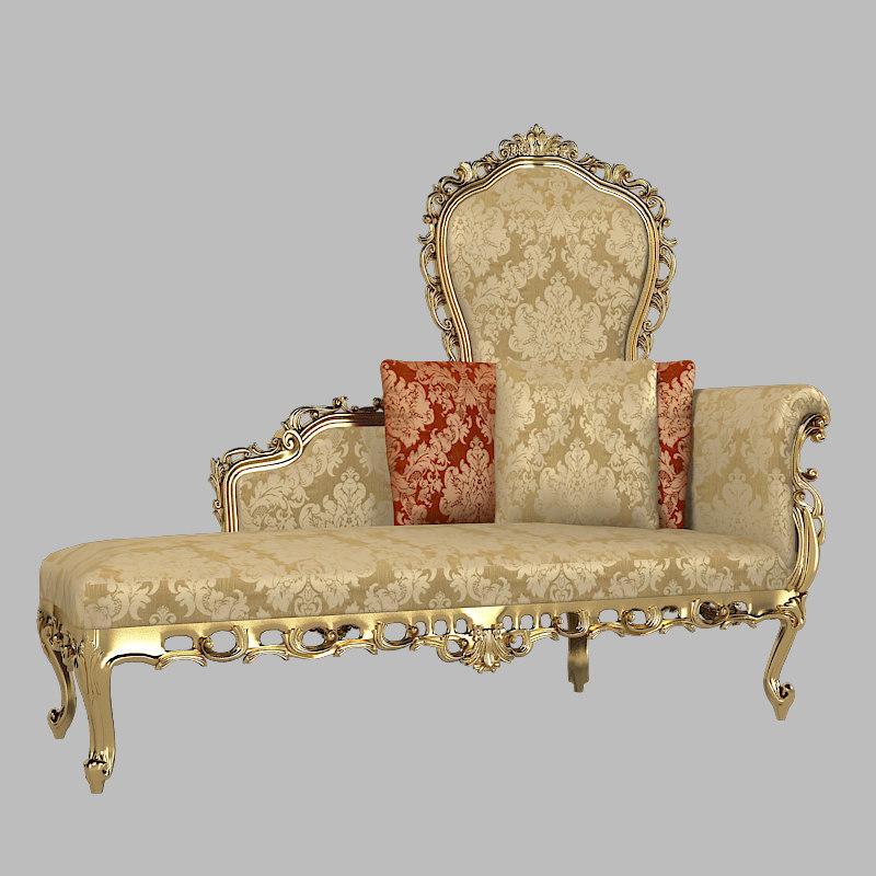 Abbondoi arredam alexandra chaise lounge max for Baroque chaise lounge sofa